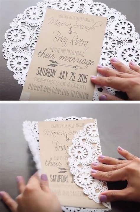 Unique Wedding Invitations Diy by Unique Diy Wedding Invitation Ideas Do It Yourself Ideas