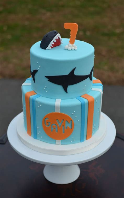 baby shark bday cake shark birthday cake shark themed birthday pinterest