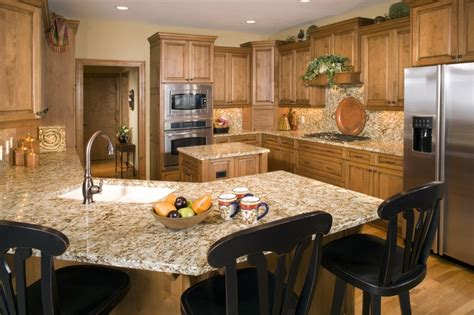 how high should kitchen cabinets be from countertop this kitchen has birch cabinets and floor granite counter