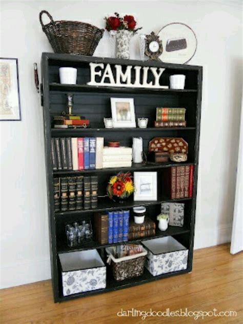 decor for bookshelves bookshelf redo decorating