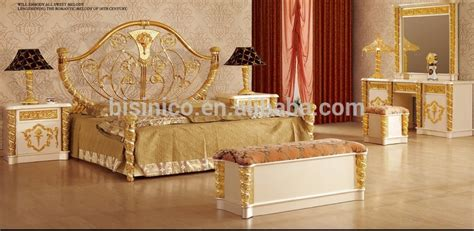 new item bedroom furniture gold white luxury bedroom