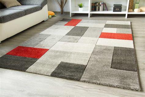 teppich rot grau designer teppich arriba modern rot orange grau viele