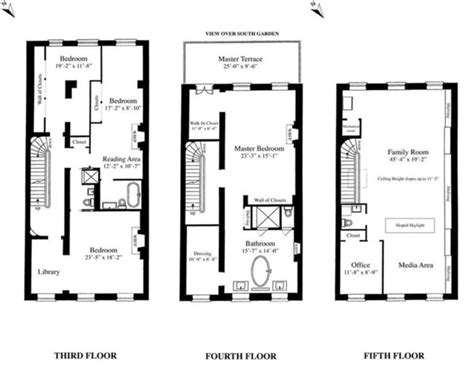 floor plans for townhouses sarah jessica parker s townhouse floorplan sarah jessica
