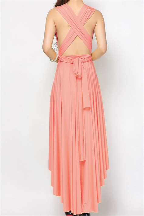 low light corals for sale light coral high low infinity dresses bridesmaid dresses