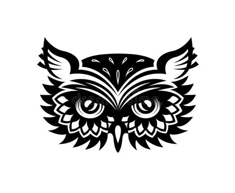wise old horned owl head stock vector image 42284097