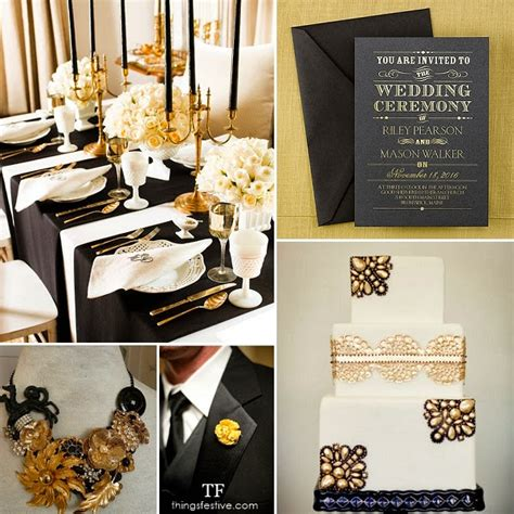 wedding themes gold and black black and gold wedding inspiration things festive