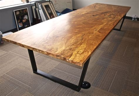 custom maple conference table by witness tree studios