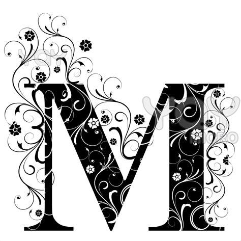 Letter M Image fancy letter m pictures to pin on pinsdaddy