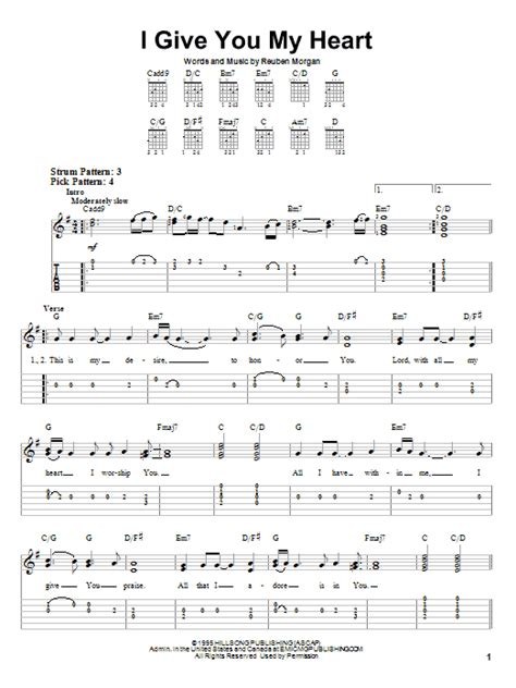 i give you my reuben lyrics i give you my by reuben easy guitar tab
