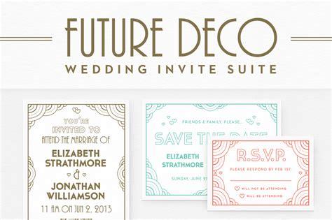 futuredeco wedding invite suite invitation templates on creative market