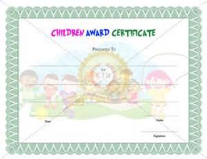Children S Certificate Template by Children Award Certificate Template Certificate Template
