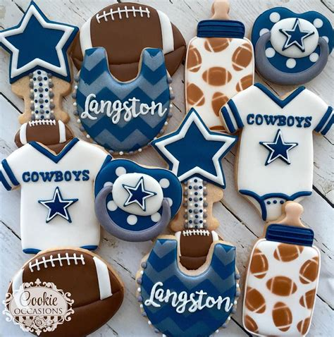 Baby Cowboy Baby Shower by Dallas Cowboys Baby Shower Set Cookies For Baby