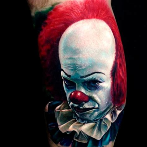 pennywise tattoo 18 pennywise the clown tattoos that will give you