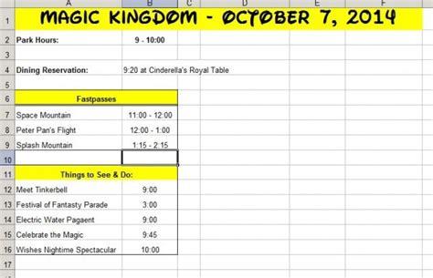 Walt Disney World Planning Spreadsheet by How A Newbie Plans A Trip To Walt Disney World