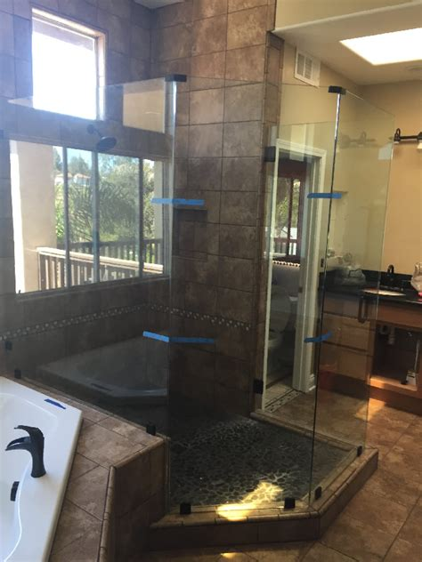Frameless Shower Doors San Diego Frameless Enclosure Angles Patriot Glass And