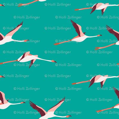 tropica_flamingo_turquoise fabric holli_zollinger