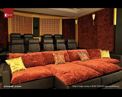 home cinema sofa bed cineak intimo fortuny luxury home media rooms seating interior decorating