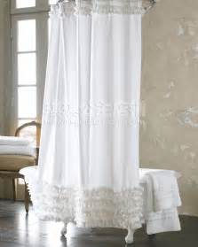 fashion plain 2013 fresh shower curtain polyster white