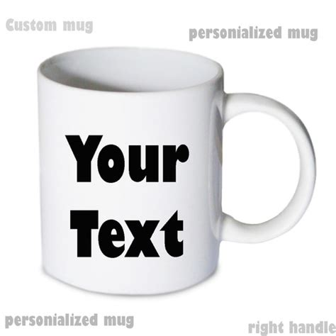 personalized mug custom text mug 11oz white coffee mug on