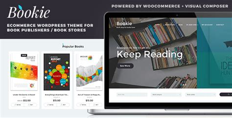 themes wordpress book bookie v1 2 1 wordpress theme for books store themetf com