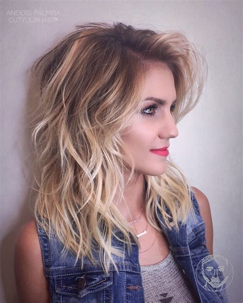 hpw to do ombre shoulder length hair yourself loreal aveda wavy long blonde bob short hair beach wave medium