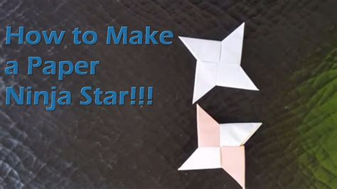 How To Make A Paper Ninga - how to make a paper shuriken