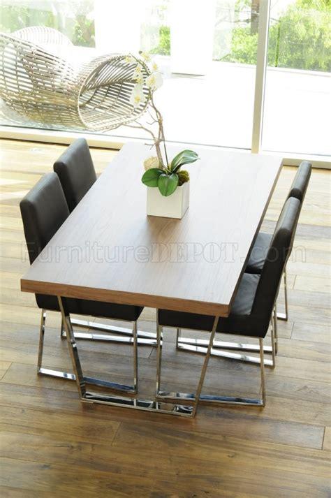walnut espresso  white modern dining table wmetal legs