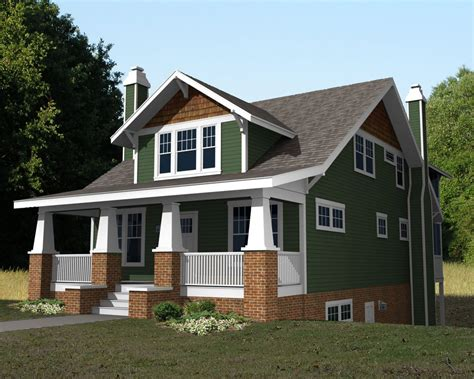 2 story craftsman bungalow house plans second story