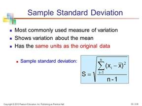 standard deviation template chapter 2 describing data numerical ppt