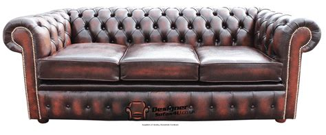 antique chesterfield sofas on ebay chesterfield 3 seater settee sofa antique rust leather