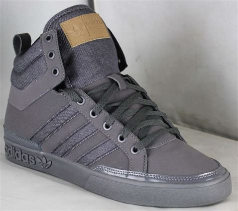 Adidas Original Shoes Mens High Tops by Adidas Originals Top Court S Hi Top Trainer Grey Uk9 Co Uk Sports Outdoors