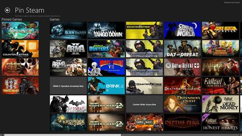 www games pin steam adds your steam games to windows 8 s start