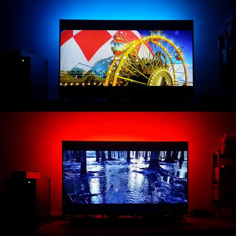 Lu Led 5050 Rgb 16 Colors 2m With Remote Multi Colo usb led 5050 rgb tv background lighting kit cuttable with 17key rf controller or mini 3key