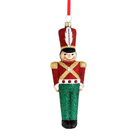 2015 reed barton toy soldier glass blown christmas ornament