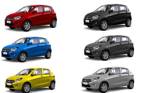 maruti celerio colors black blue grey silver