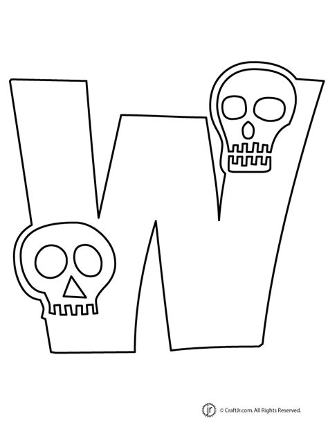 halloween coloring pages letters halloween letter w woo jr kids activities