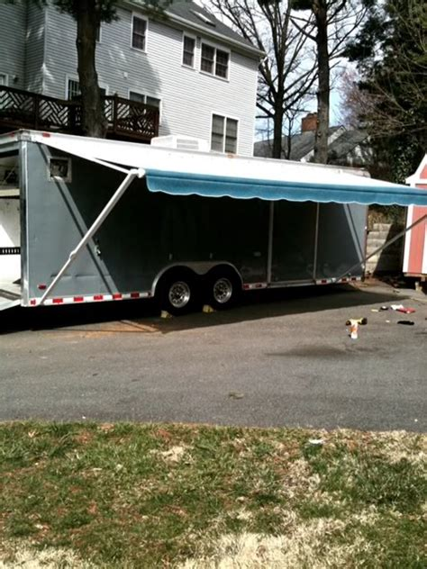 How To Open Trailer Awning by Got An Enclosed Trailer Anyone Install Sunsetter Awning