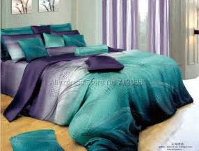 Complete Bedding Sets Australia Cotton Mordern Design Blue Purple Geometric Pattern