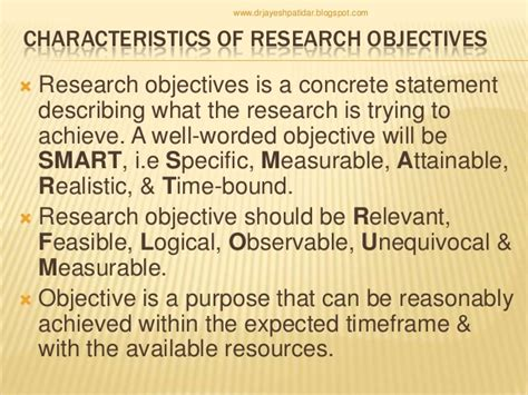 statement of objectives in research writing research objectives
