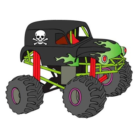 grave digger truck images free printable truck clipart clipart image 24392