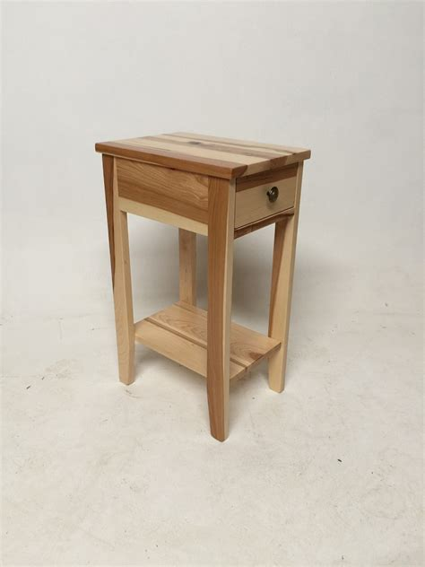 hickory chair side tables hickory small chair side table w drawer the oak