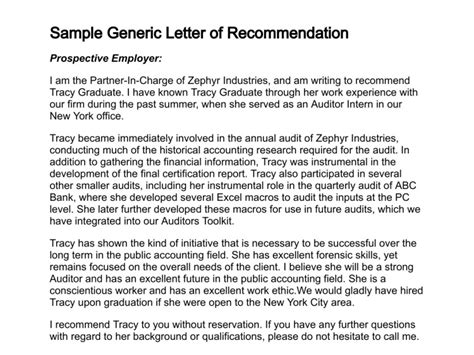 Recommendation Letter For Ngo How To Write A Letter Of Recommendation