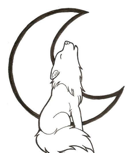 wolves drawings easy clipart best