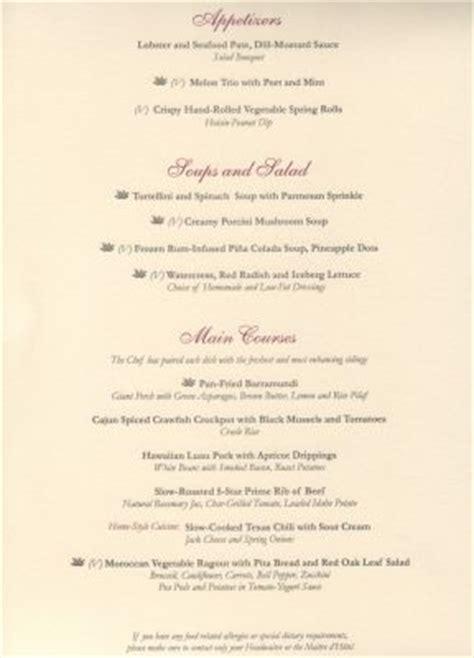 ruby princess dinner menu related keywords ruby princess