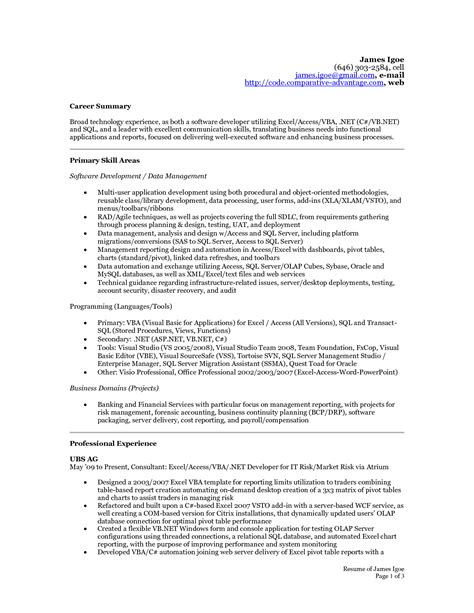 Sle Summary For Resume by Summary For Accounting Resume 28 Images Sle For