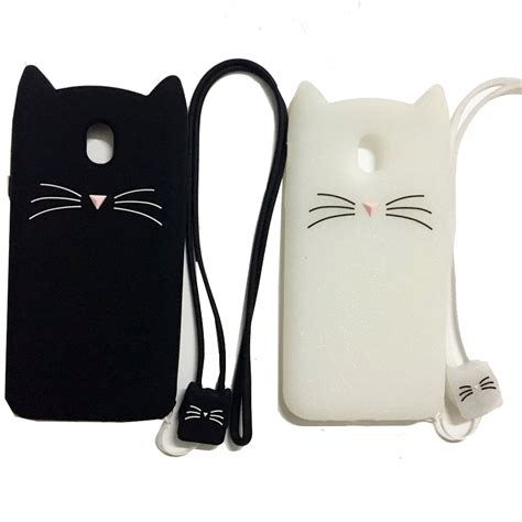 Softcase 3d Samsung J5 2 for samsung j3 j5 j7 pro 2017 3d beard cat design soft silicon phone bag cover for samsung