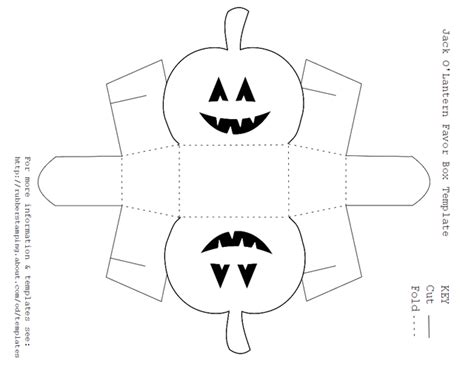 3d Pumpkin Card Template Pdf by Free Printable O Lantern Favor Box Template Box