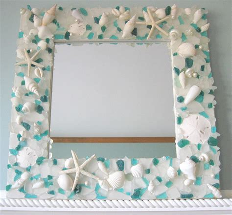 picture frame craft beachstring cool craft quot seashell mirror picture frame quot