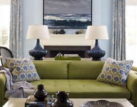 Decorating Ideas For Living Room With Green Sofa Green W Blue Walls For Living Room We Olive