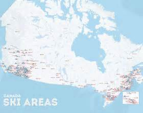 ski resorts in canada map ski areas etsy